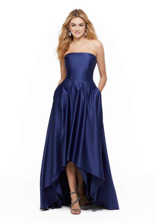 High Low bridesmaid dress Mori Lee 21644