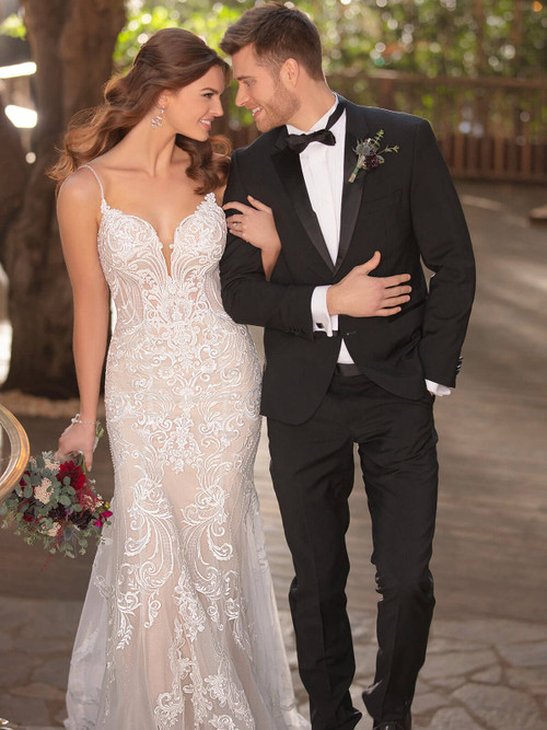Fit And Flare Essense of Australia Bridal Gown D2771