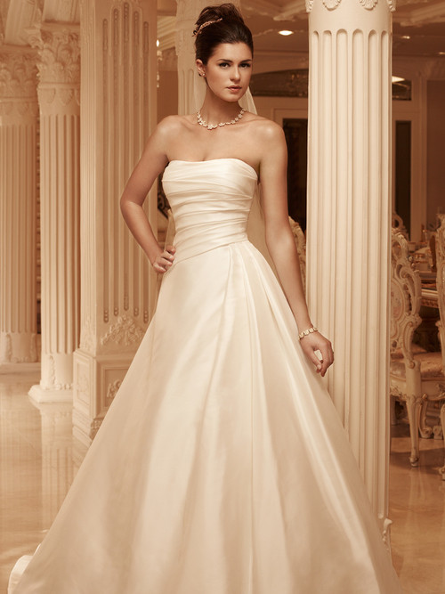 Strapless Pleated Bridal Gown Casablanca 2101