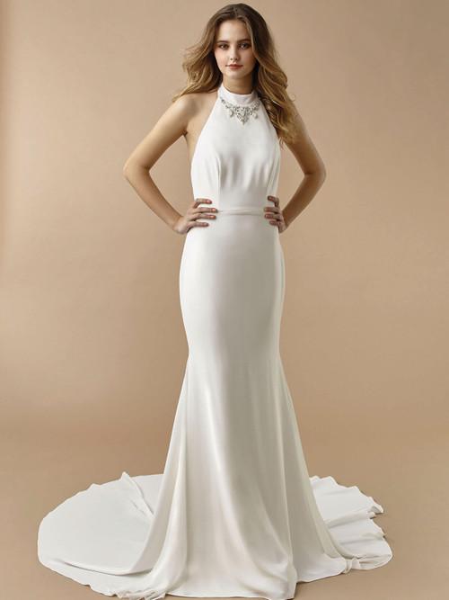 Halter wedding gown Enzoani Beautiful BT20-12