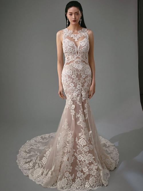 lace sheer Enzoani Bridal Gown Matilda