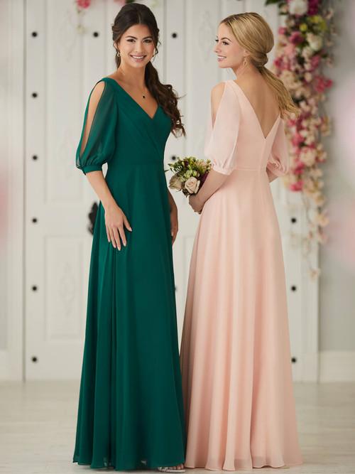 V-neck bridesmaid dress Christina Wu 22907