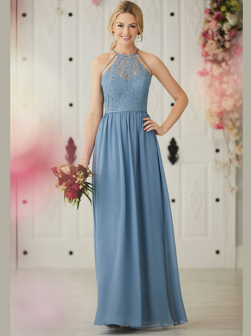 Halter bridesmaid dress Christina Wu 22919