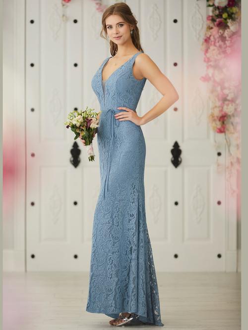 Plunging Neckline bridesmaid dress Christina Wu 22920