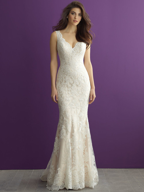 Allure Romance 2956 V-neck Wedding Dress