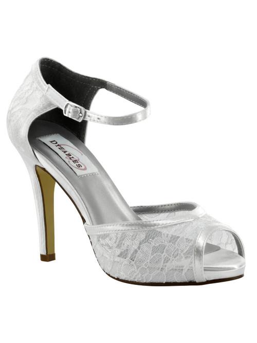 Satin 3 1/2 Inch Bridal Heel by Touch Ups Eden 46115