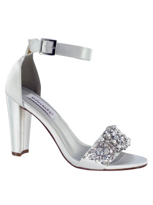 Satin Block Heel Bridal Sandal by Touch Ups Felicity 4292