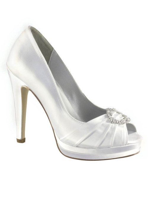 Vamp Broach Bridal Heel by Touch Ups Gianna 11010