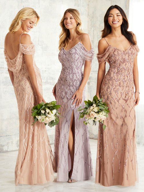 Cold Shoulder Adrianna Papell Bridesmaid Dress 40263