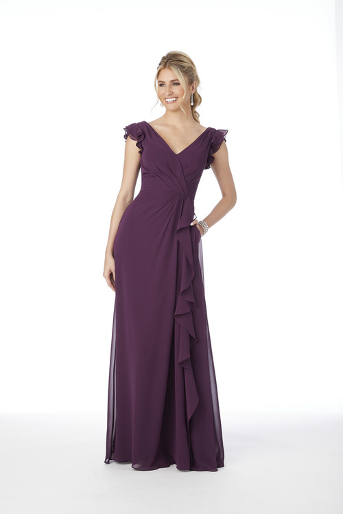 Ruffle Sleeve Morilee Bridesmaid Dress  21686