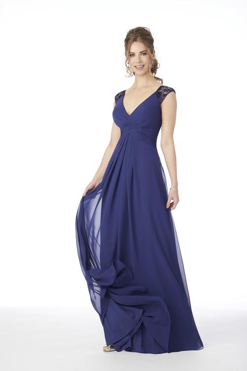 V-neck Morilee Bridesmaid Dress  21687