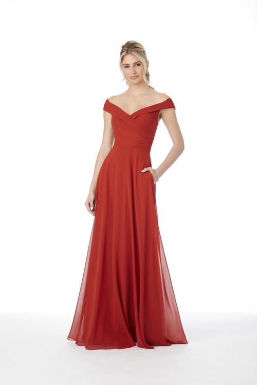 Off The Shoulder Morilee Bridesmaid Dress  21692