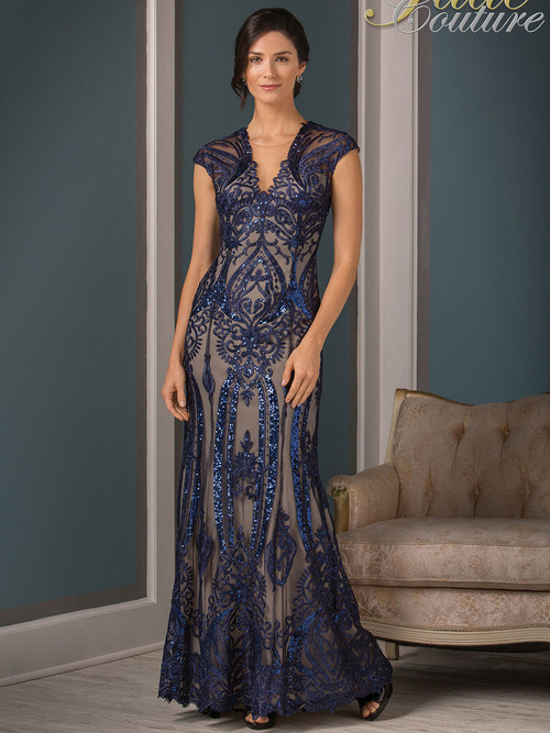 Jade Couture K188001 V-neck Mother Of The Bride Dress
