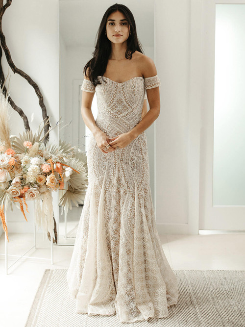 Fit and Flare Wedding Gown Willowby Sierra 55103