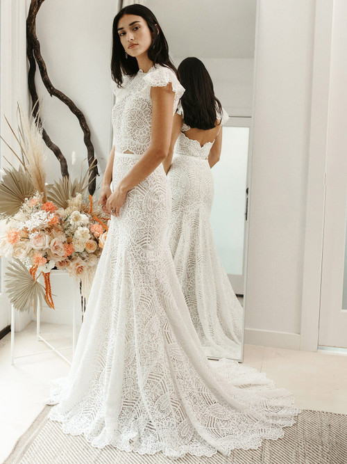 Fit and Flare Wedding Gown Willowby Cosette 56103
