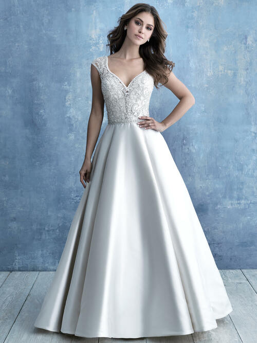 Cap Sleeve Ball Gown wedding dress Allure Bridals 9710