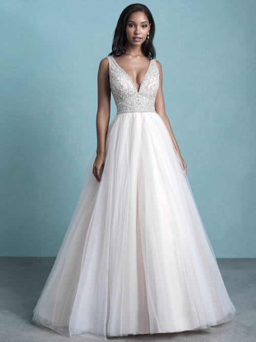 V-Plunging Bridal Gown by Allure 9764