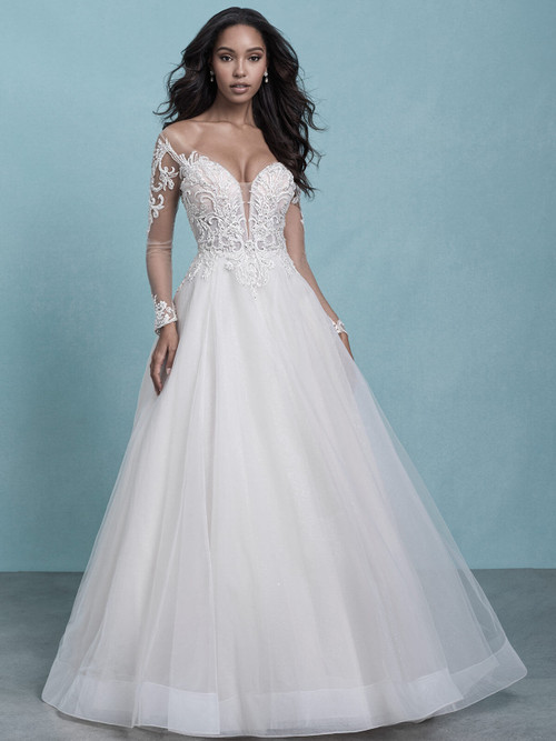 Long Sleeved Bridal Gown by Allure 9770