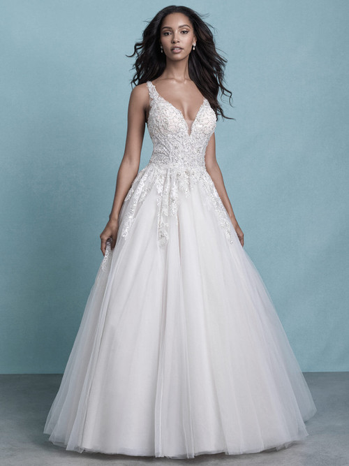 Lace Bodice Bridal Ball Gown by Allure 9775