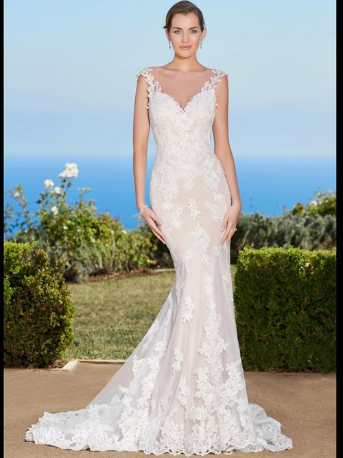 KittyChen Illusion Scoop Neckline Bridal Gown Mallory