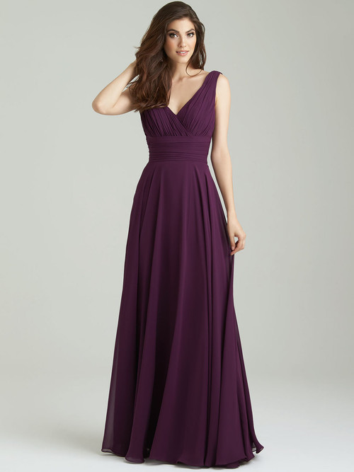 Allure 1455 V-neck Bridesmaid Dress