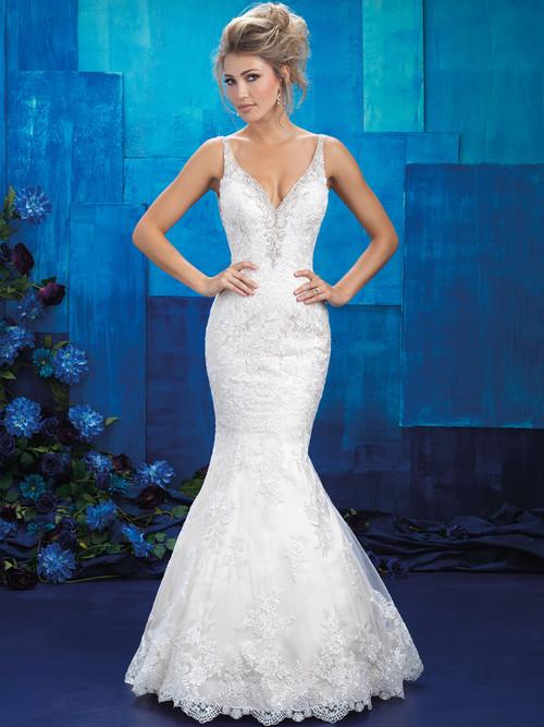 Allure Bridals 9401 V-neck Wedding Gown