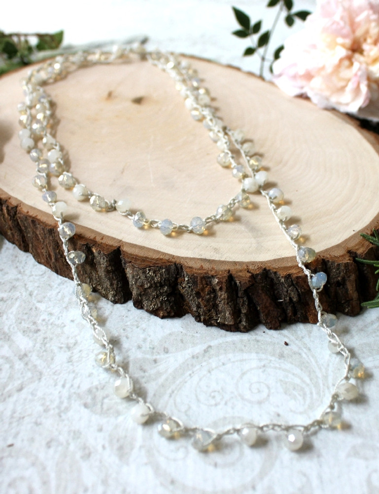 Crochet Beaded Necklace/Bracelet