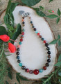 Graduated Agate Beaded Necklace