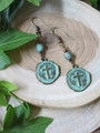 Cross Coin Earrings
