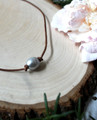Leather & Pearl Necklace