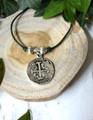 Leather & Charm Bracelet with Macrame Closure
