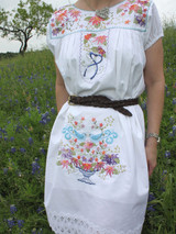 Maria Mexican Folk Dress with embroidery