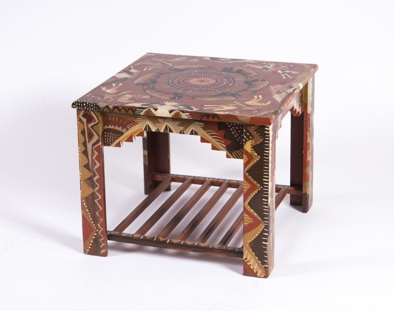 Buffalo Hunt Ceremony End Table