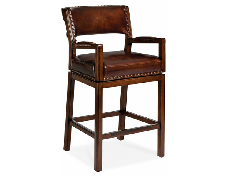 Groovy Bozeman Swivel Bar Stool W Arms Pdpeps Interior Chair Design Pdpepsorg