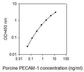 Porcine PECAM-1/Platelet endothelial cell adhesion molecule PharmaGenie ELISA Kit SBRS1596