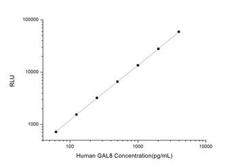 Human Autophagy ELISA Kits Human GAL8 Galectin 8 CLIA Kit HUES00622