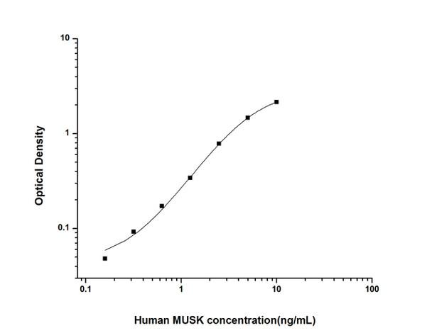 Human Developmental Biology ELISA Kits Human MUSK Muscle Skeletal Receptor Tyrosine Kinase ELISA Kit HUES02391