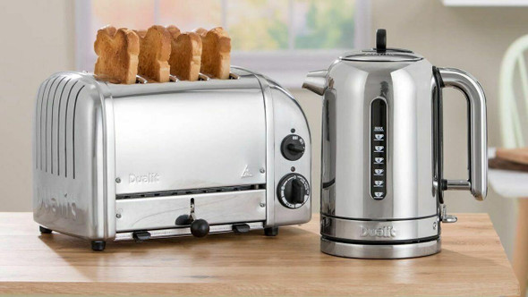Dualit DUALIT CLASSIC POLISHED STAINLESS KETTLE and TOASTER 2 X CAGES COMBO IN HEIDELBERG