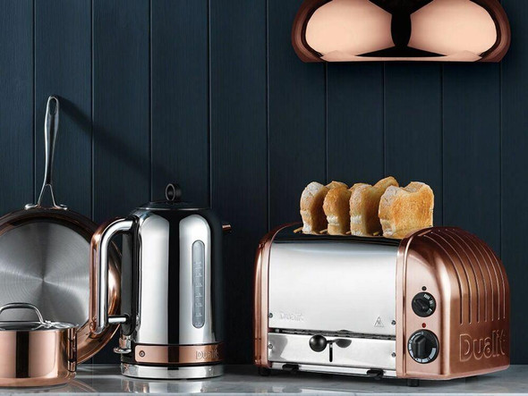 Dualit DUALIT CLASSIC COPPER POLISHED STAINLESS KETTLE AND TOASTER COMBO IN HEIDELBERG