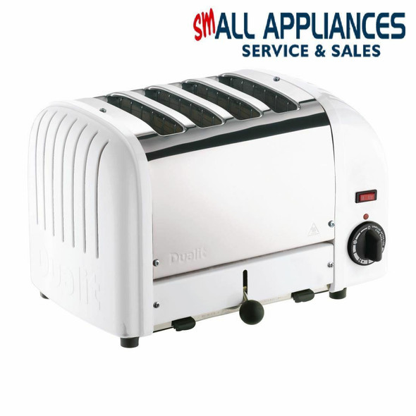Dualit DUALIT BUN TOASTER 4 SLICE WHITE CLASSIC 43022 WITH 2 YEAR WTY IN HEIDELBERG