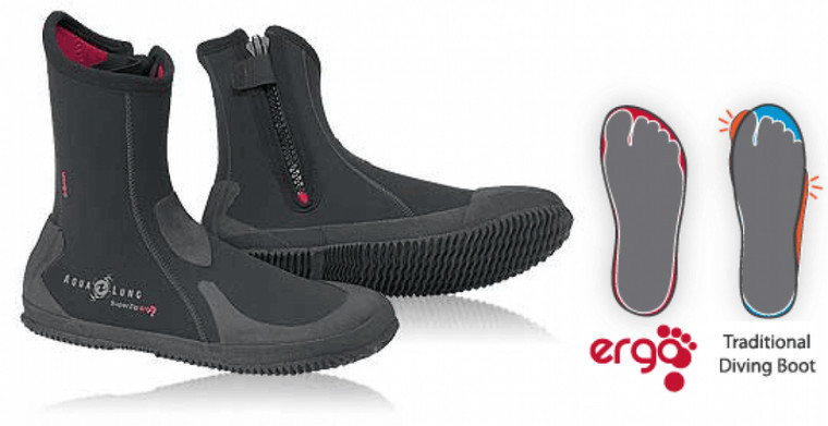 Aqua Lung 6.5mm Superzip Ergo Boots