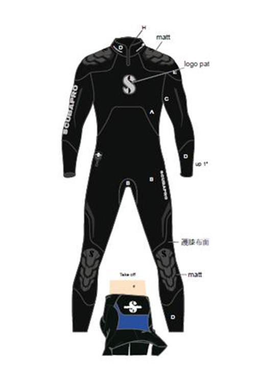 Scubapro Everflex Steamer 7/5 mm Men's Wetsuit - Black