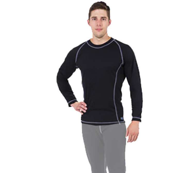 DUI Ecodivewear Pullover Men's Shirt - Black/Gray