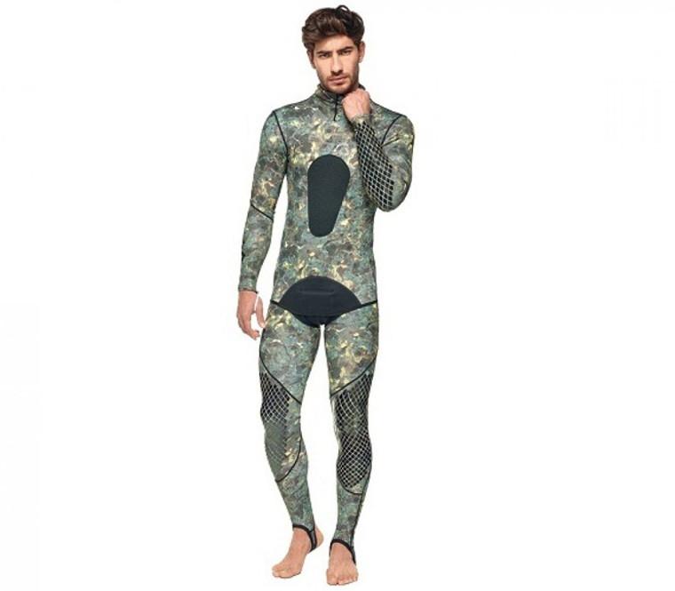 SEAC Pirana Lycra Wetsuit Green Camouflage