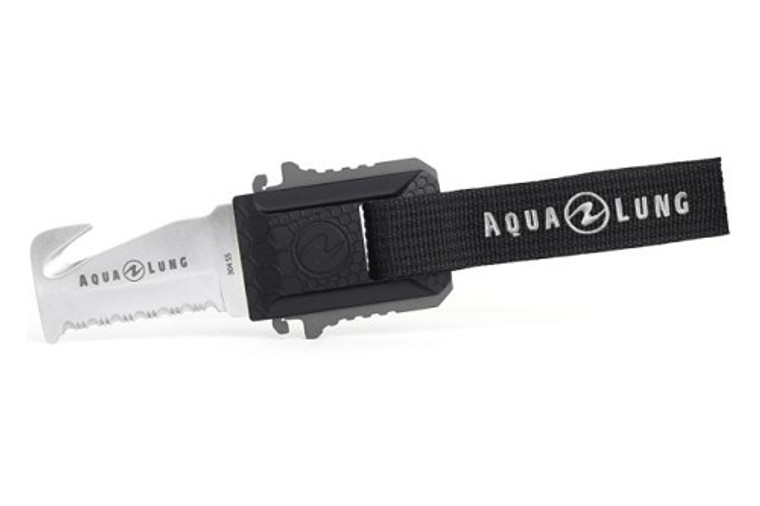 Aqua Lung Micro Squeeze Sheeps Foot Stainless Knife - Black/Charcoal