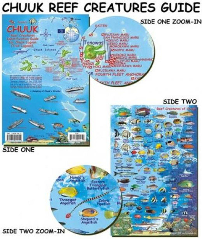 Franko Maps Chuuk Lagoon Reef Creatures Fish ID for Scuba Divers and Snorkelers