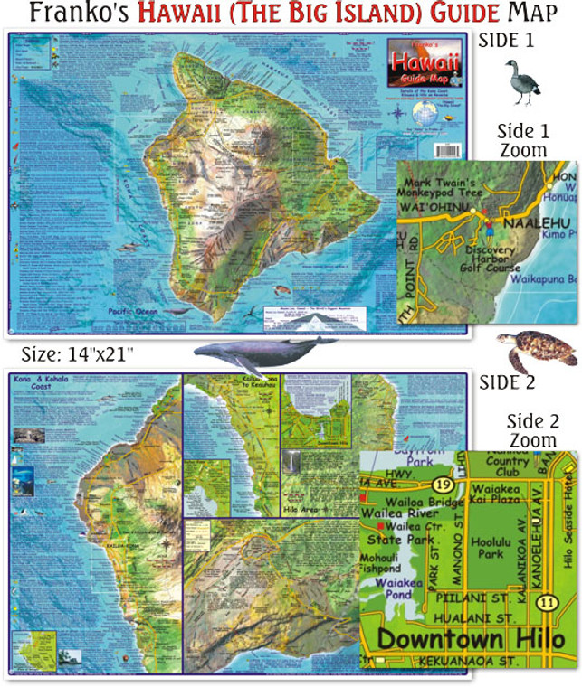 Franko Maps Hawaii Guide Map for Scuba Divers for Scuba Divers and Snorkelers