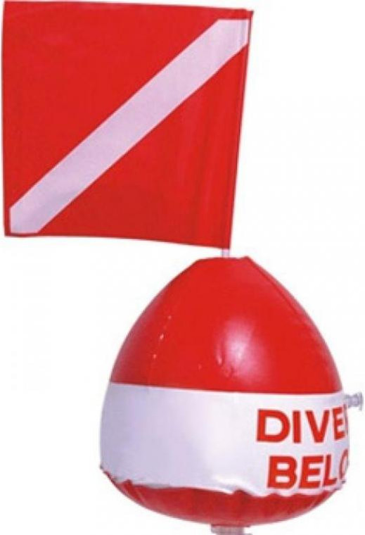Storm Surface Marker and Flag for Scuba Diving or Snorkeling