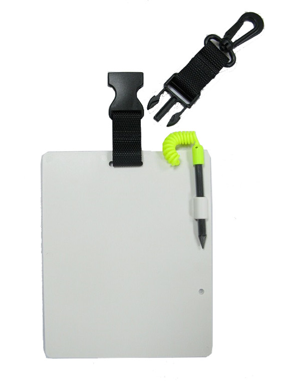 Storm Scuba Diving Underwater Writing Slate and Pencil with QR Clip