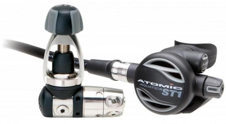 Atomic Aquatics ST1 Scuba Diving Yoke Regulator - Gray